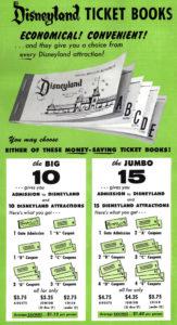 Vintage Disneyland Ticket book promo