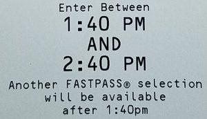 Fastpass Info Detail
